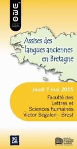 Compte-Rendu : Assises des langues anciennes en Bretagne, 7 mai 2015