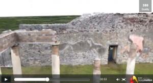 Balade virtuelle dans la villa Diomède à Pompéi