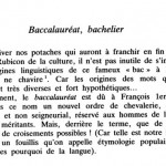 Baccalauréat > Bacca Laurea (couronne de laurier) ?