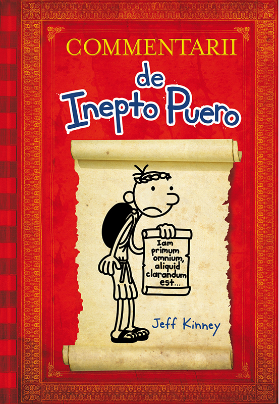(RNS1-may7) Cover art for 'Diary of a Wimpy Kid' in Latin. For use with RNS-WIMPY-LATIN, transmitted on May 7, 2015, Photo courtesy of Il Castoro