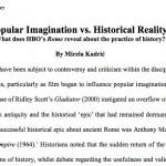 Academia.edu / Imagerie populaire contre réalité historique : ce que la série Rome révèle sur la pratique de l'histoire