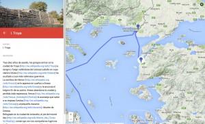 Carte enrichie / le Voyage d'Enée