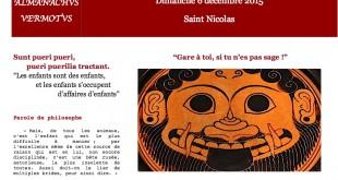 La Vie des Classiques / Almanachus Vermotus, 6 décembre, Saint Nicolas