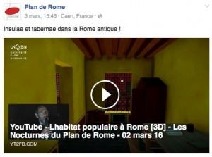 Plan de Rome / Insulae et tabernae dans la Rome antique