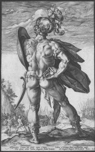 Des héros romains très … musclés par le graveur H. Goltzius