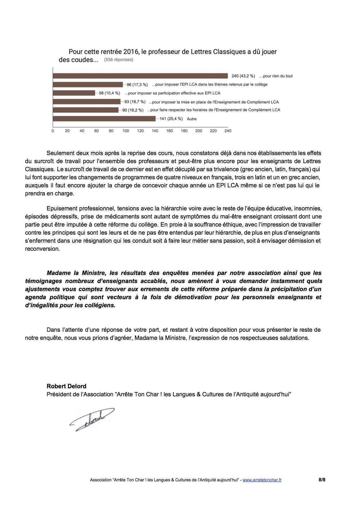 Lettre Ouverte A La Ministre De L Education Nationale La