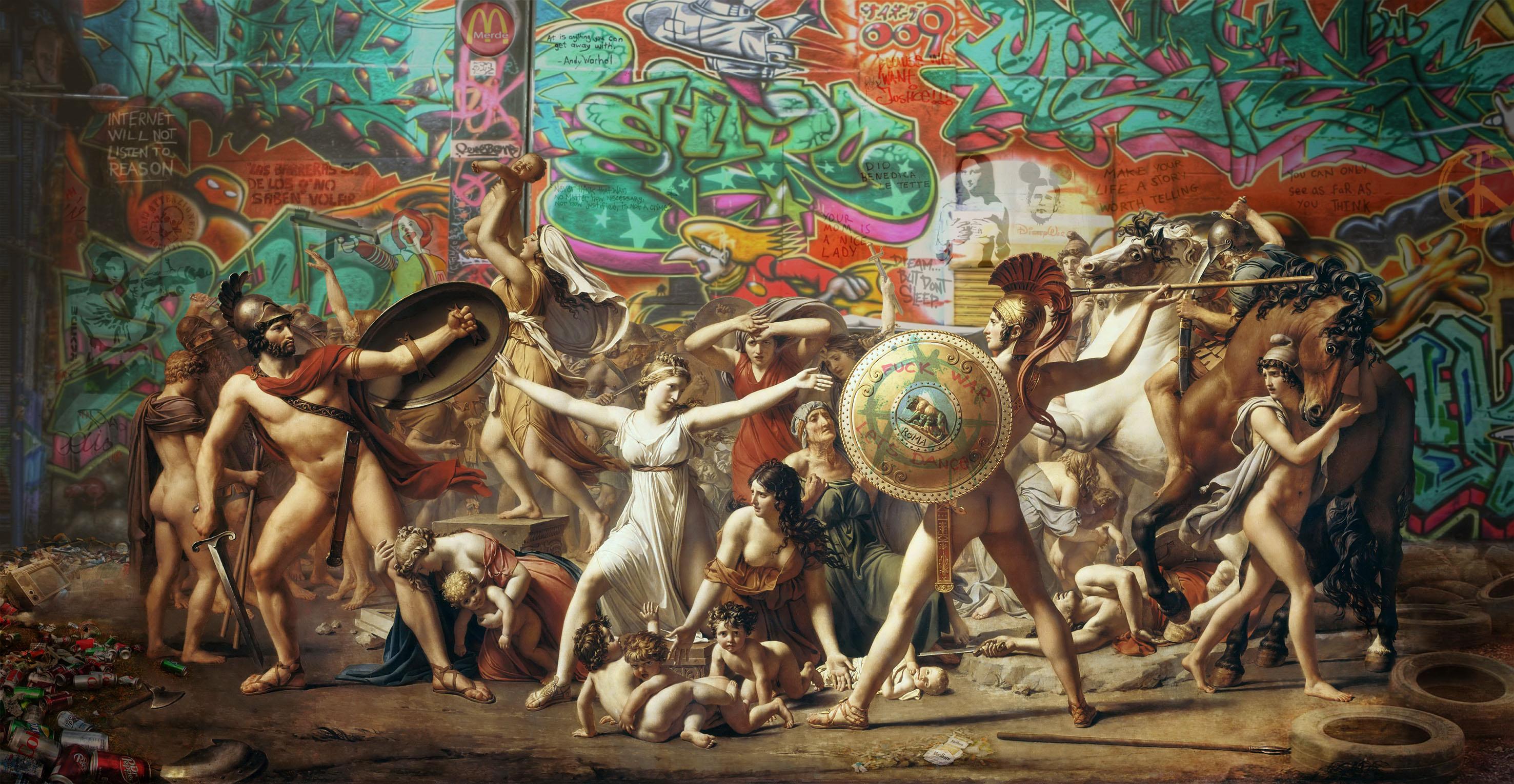Street art et peinture classique : la prouesse de Marco ...