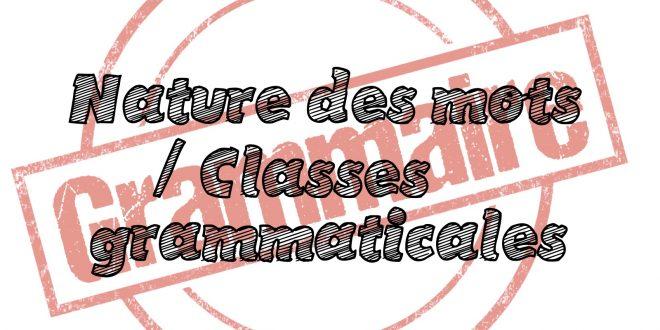 Parcours De Revision Les Classes Grammaticales 6eme 5eme