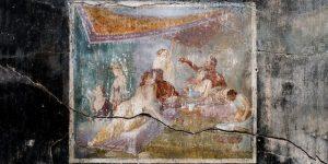 France Info / Pour la Saint-Valentin, Pompéi expose la fresque d'un baiser romain