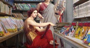 La Boite Verte / Des éléments de peinture classiques insérés dans la vie courante