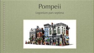 Legonium : la rencontre du latin vivant et du Lego
