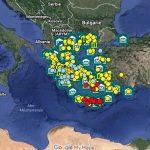 Carte des sites et musées archéologiques de la Grèce antique