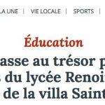 Le Populaire / Une chasse au trésor pour les latinistes du lycée Renoir dans les vestiges de la villa Sainte-Claire