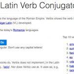 Verbix : le conjugueur automatique de verbes latins