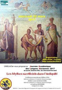 Les mythes sacrificiels dans l'Antiquité @ Lycée Jeanne D'Arc, Clermont-Ferrand