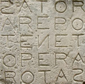 Finding Palindromes in the Latin Library