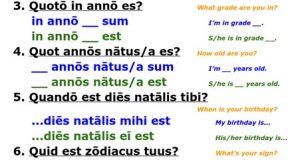 Discipulus Illustris : Un jeu de questions-réponses en latin pour apprendre à faire connaissance.