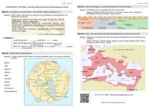 Parcours de révision : Panorama général historique et géographique (Rome)