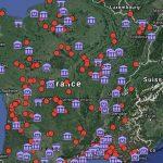 Carte : sites, parcs & musées archéologiques de France