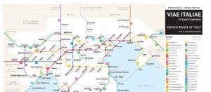 """Mis à jour de la carte des routes antiques façon """"plan de métro"""""""