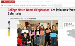 EPISTULAE : cette année, 12 000 élèves s'écrivent en latin :)