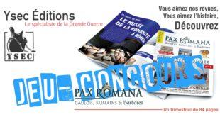 Jeu-Concours Pax Romana (Ysec éditions)