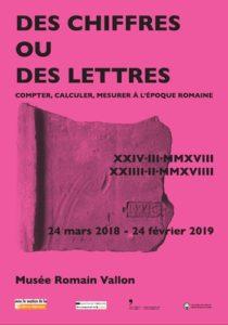 Des chiffres ou des lettres @ Musée romain de Vallon (Suisse)