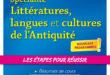 Spécialité Littérature, langues et cultures de l'Antiquité – Première