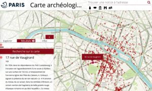 Carte (interactive) archéologique de Paris