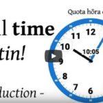 Video en latin : Quota hōra est?