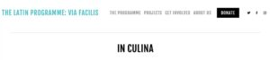The latin programme propose quelques videos & fiches de recettes romaines (en anglais)