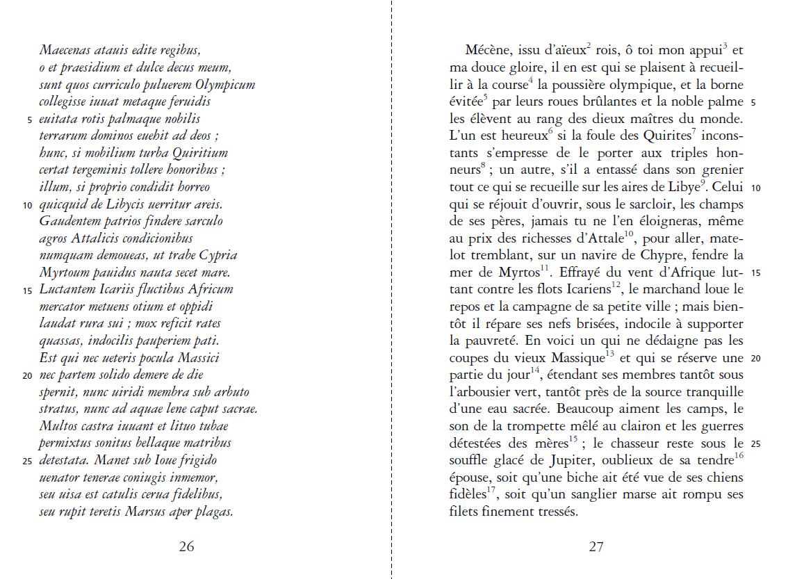 Carpe Diem Anthologie Bilingue De Poèmes Extraits Des Odes