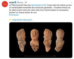 Rare découverte de sculptures gauloises en Bretagne