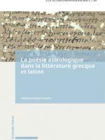 La poésie astrologique dans la littérature grecque et latine