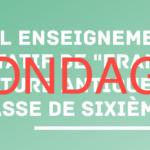 Sondage sur la mise en place de l'option FCA 6e (Français et Culture Antique)