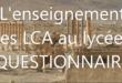 L'enseignement des LCA au lycée – à vos claviers !
