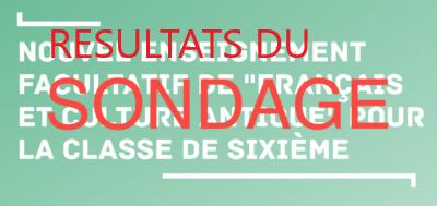 """Option """"français – culture antique"""" – résultats de notre sondage"""
