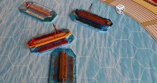 Touché - coulé: jeu de plateau sur les naumachies