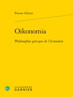 Oikonomia Philosophie grecque de l'économie