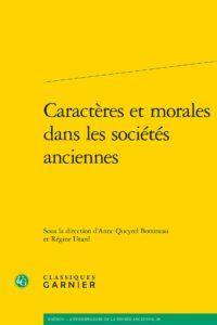 Caractères et morales dans les sociétés anciennes