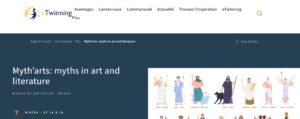 """kit eTwinning """"Myth'arts : Les Mythes dans l'art et la littérature"""""""